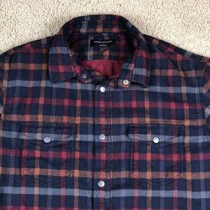 Banana Republic Shirts - Banana Republic Snap Button Thick Flannel Shirt L